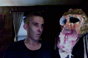 Horror-skeksis, plaster, wire, cloth, oil paint, with the artist.