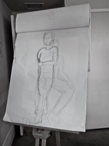 figure study, male model, standing