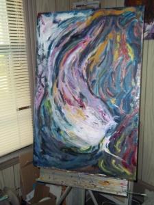 """Oil on canvas, work in progress, untiltled, 24"""" x 36"""""""