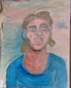 Self-portrait #3, Oil on canvas, (2014).