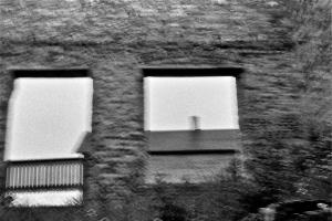 Fayette, Michigan, 35mm camera, damaged negative.